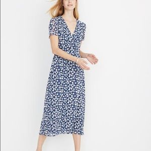 Madewell Wrap-Front Midi Dress, French Floral